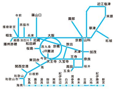 JR西日本 近畿圏ICOCAエリア